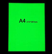 2X A4 Luminous Tape Glow In The Dark Self-adhesive Green