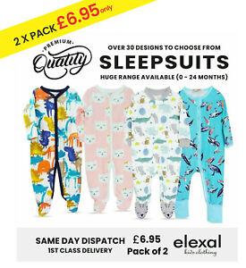 Baby Girls Boys Sleepsuits 0-3m Unisex Cotton Jumpsuit Rompers Bodysuit Grows