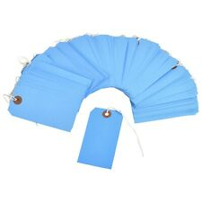 """100 Blue Tags 4 3//4/"""" x 2 3//8/"""" Size 5 Inventory Shipping Hang Tag with String"""