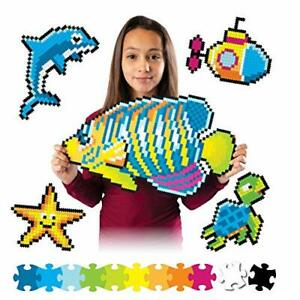 Fat Brain Toys Jixelz 1500 pc Set - Under The Sea Arts & Crafts for Ages 6 to 12