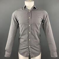RALPH LAUREN Size S Black & White Checkered Cotton Button Up Long Sleeve Shirt