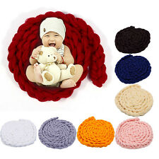 Newborn Photography Props Baby Photo Blanket Baby Posing Knitting Wool Blankets