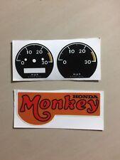 VINTAGE Honda Speedometer Decal Z50a Z50j Z50m Z50z Cz100 Mini Trail Monkey Bike