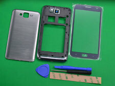 Silver Housing Cover + Front Glass Lens+Tools For Samsung ATIV S i8750
