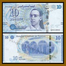 Tunisia 10 Dinars, 2013 P-96 Unc