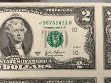 2003A $2 Down Ladder J98765431B, just one digit off from a holy-grail. Gem CU!