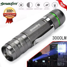 3000LM Zoomable CREE XM-L T6 LED Flashlight Torch Lamp 18650 Super Bright Light