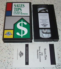 Hospitality Industry VHS Sales Tips Small Economy Prop.