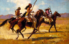 Howard Terpning LIGHT CAVALRY Giclee Canvas, Native American, Apache #197/550