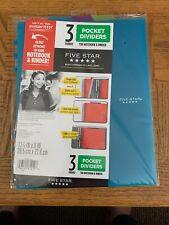 Five Star Pocket Dividers 3 Tabbed