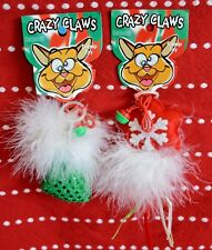 2X Christmas Crazy Claws Cat Toy Star Red Bell & Stocking Sergeant's Catnip