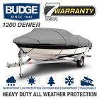 Budge 1200 Denier Waterproof Boat Cover   Fits Jumbo Hard Top Boats   5 Sizes
