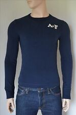 NEW Abercrombie & Fitch Johns Brook Crew Sweatshirt Tee Navy Blue S RRP £50
