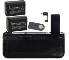 Vertical Battery Grip Holder as BG-3DIR + 2x NP-FW50 + IR Remote for Sony A6000