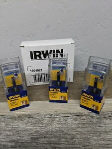 """(3 PACK) New Irwin 1901025 1/4"""" Shank 1/4"""" x  5/8"""" Straight Carbide Router Bit"""