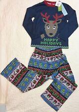 Target Boys Christmas 2pc Reindeer Sleepwear Pajama Blue Red Size 6 Fits 6/7 NWT