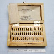 Slip Gauge Block Set 0.3-0.9mm (10 µm step) Grade 1 (43 pcs) Endmass Satz USSR