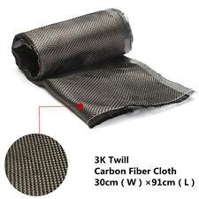 3K 91x30cm Carbon Fiber/Fibre Cloth Fabric Plain 2/2 Twill Weave 36''x12''
