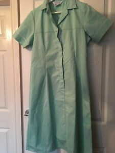 Alexandra SD130 Green Workwear Dress Coverall Dinner Lady Cleaning Nurse Size 14