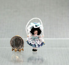 Dollhouse Miniature WEE JUMPING JOAN Angel Children Doll by Ethel Hicks