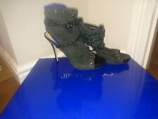 Women Jimmy Choo for H&M Peep Toe Ankle Boots Ladies High  Heel  Shoes Size 5
