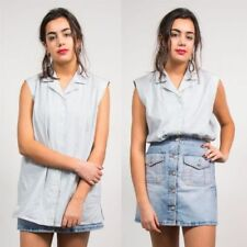 Checked Collared Tops & Shirts for Women 90s Theme