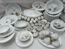 More details for japanese eggshell porcelain tea & dinner set (98 pieces)