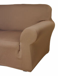 Sofa Protector Easy Stretch Elasticated Furniture Chair Cover Latte 1 2 3 Seater