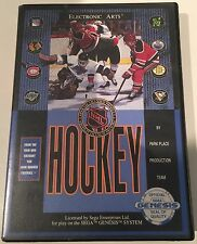 Authentic Sega Genesis Electronic Arts NHL Hockey 1991 Park Palace Production 16