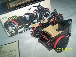 NEW ~ GENUINE 1933 HARLEY-DAVIDSON MOTORCYCLE W/SIDECAR LOCKING COIN BANK & KEY
