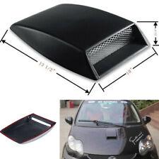 Black 3D Car Hood Air Flow Intake Vent Scoop Decorative Cover Sticker Universal