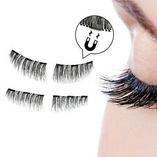 3D Triple Magnetic False Eyelashes No Glue Handmade Natural Extension Eye Lashes