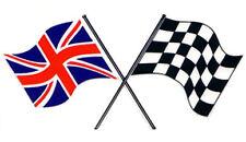 Etiqueta del vinilo exterior Clásico Motorsport Reino Unido y comprobado Morris banderas Rally Pegatinas