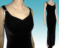 Unworn 70s Black Velvet Formal Gown Bust 35 Rhinestone Detail Made In Canada