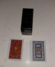 Vintage 1972-73 - Kem Plastic Coated Playing Cards Double Deck  Case Harvest