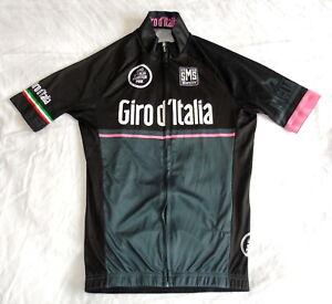 """GOOD COND GIRO D'ITALIA MAGLIA NERA JERSEY. SANTINI SMALL 33 - 36"""" CIRCUMFERENCE"""