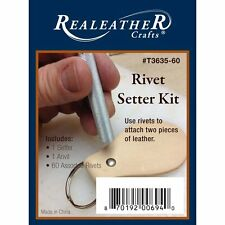 Realeather Crafts Rivet Setter Kit Nickel T3635-60