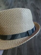 Mens Levis Straw And Camo Fedora Hat Size L/XL