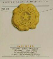 24 Super Star Hits Stamped In Gold 2 LP Set K-Tel TU 2830