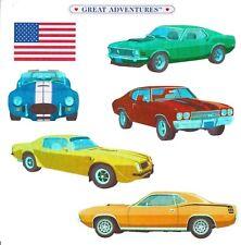 "6"" x 6"" ~ Foil Muscle Car Hot Rods V8 Vintage Collector Grossman Stickers SALE ~"