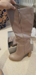 Bnib Wallis Knee High Boots, Taupe, 8, 41, rrp £65