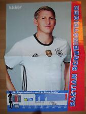 Poster B. Schweinsteiger aus dem Kicker Sportmagazin Gr.ca.29,5 cm  x ca.43 cm