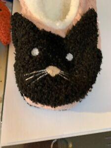 $15  HUE Cat Cozy Critter Slipper Socks Women's Size M 7-8 B1