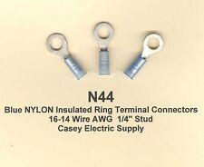 25 Blue Nylon aislados Gancho terminal de conectores # 16-14 Cable Awg # 10 Birlos Molex