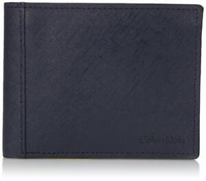 Calvin Klein Men's Billfold Leather Wallet Navy 7967096 Perfect Gift $45.00