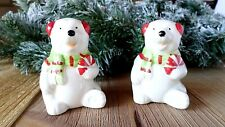 Holiday Polar Bear Salt & Pepper Shakers  NEW