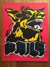 FAILE - DOG - Black Light Deluxx Fluxx Arcade - SIGNED LIMITED OFFSET Print