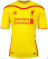 LIVERPOOL 2014/15 S/S YELLOW AWAY SHIRT BY WARRIOR ADULTS SIZE L BRAND NEW 2015