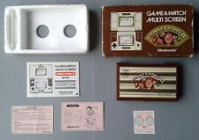 NINTENDO GAME&WATCH MULTISCREEN DONKEY KONG JR-55 COMPLETA EN CAJA BOXED CIB VER
