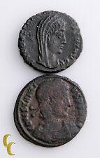 337-361 AD Constantius II & Constantine I Ancient Roman 2 pc Coin Centenionalis